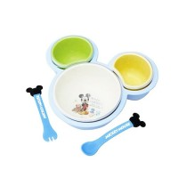 日本製迪士尼單手可拿離乳食餐盤組-米奇
