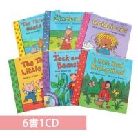 LTF Fairy Tales 6 books with 1 CD Pack 童話有聲翻翻書套組(6書1CD)
