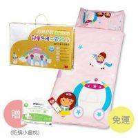 兒童冬用午安睡袋組-公主城堡兒童睡袋+冬用午安被胎-加贈防蟎小童枕