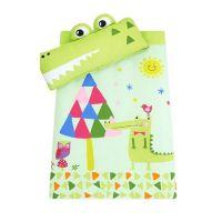 可愛動物造型睡袋-微笑小鱷魚-造型睡袋X1+真空包裝枕心X1+枕頭X1+睡墊X1+防塵收納袋X1