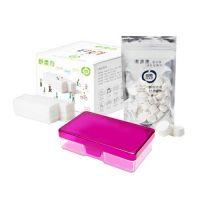 潔適康™ WISCO - 舒柔巾-隨身守護組-浪漫紫-舒柔巾(40片/盒)x1 + 紙巾球50顆/包x1 + 隨身盒x1
