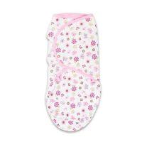 第二階段棉質包巾-粉蝶