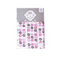 FABRIC PLUS日本製四重織純棉紗薄毯-1009-粉紅-85×110cm