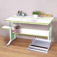 創意小天才 - 第五代兒童專用120cm調節桌+專用文具鍵盤架-清新綠