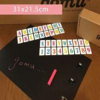 黑板留言掛勾貼 (贈字母貼+白色蠟筆) (31*21.5cm)-1組