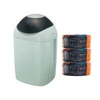 日本 Combi - Poi-Tech 尿布處理器-清靜綠 (GR)-附專用衛生抗菌膠膜捲-柑橘香x3入組