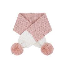 雙色球球圍巾-粉白 (6-36M)