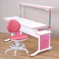 創意小天才 - 第五代兒童專用120cm調節桌二件組(桌+素養家椅)-俏皮粉