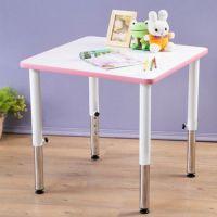 創意小天才 - 可調式小童遊戲成長正方桌(60x60cm)-俏皮粉