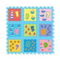 彩色印圖拼接墊-數字天地-天空藍 (32x32cm)-9片