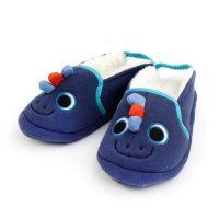 鬆緊帶厚底防滑室內鞋(刷毛)-微笑恐龍