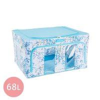 Family Life+ - 韓版無甲醛高質感雙視窗雙開收納箱68L-嫩彩藍x6