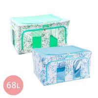 Family Life+ - 韓版無甲醛高質感雙視窗雙開收納箱68L-嫩彩藍x3+嫩彩綠*3
