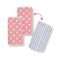 雙面款口水巾-淺藍條紋/粉底白點 (regular(約15.5×16.5cm))