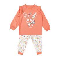 春季家居服-荷葉袖彩繪兔
