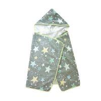 Sunrise遮陽連帽毛巾斗篷-灰底星星 (W120xH60cm)