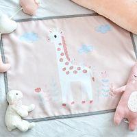磁鐵式三層抗UV遮陽窗簾-長頸鹿-粉紅