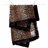 豪華豹紋嬰兒毛毯 (74X89cm)