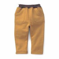 純棉休閒褲-黃橙