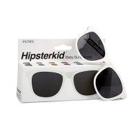 Hipsterkid - 抗UV時尚嬰童偏光太陽眼鏡(附固定繩)-白