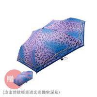 La petty a loup - 渲染豹紋輕量遮光碳纖傘-買一送一-深紫 (53cm*6k)