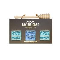 混裝蜂蜜禮盒(琉璃苣x1三葉草x2)-贈 實木蜂蜜棒(北美楓木)價值250元-375gm*3
