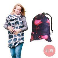 英國 BundleBean - 多功能防風防雨背巾罩/遮罩-紅鶴