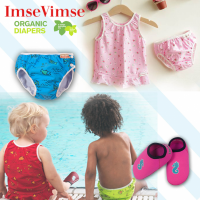 瑞典 ImseVimse 彈性防漏游泳尿布褲 / 泳衣 / 防滑鞋