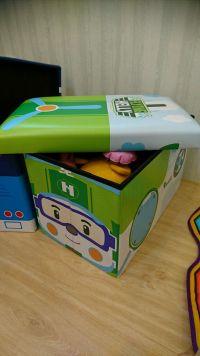 YoDa 救援小英雄波力收納嚕嚕車 ✕ 收納箱 韓國正版授權,用途多元!還可當作小椅子、小車車! by 施沛宜