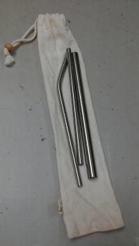 【QC館】日本鋼材食品級不鏽鋼吸管 / 環保餐具袋 使用 SUS304 / SUS316L 不鏽鋼材質 ❤ 遠離塑化劑 by 白兔