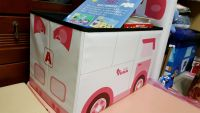 YoDa 救援小英雄波力收納嚕嚕車 ✕ 收納箱 韓國正版授權,用途多元!還可當作小椅子、小車車! by Chi