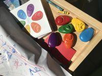 韓國OMMO歐姆寶無毒兒童蠟筆 韓國製100%無毒蠟石材質,絕對耐摔!水滴狀設計好抓握,好清潔不掉屑~ by sharonlo